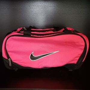Nike Pink & Black Medium Duffle Bag